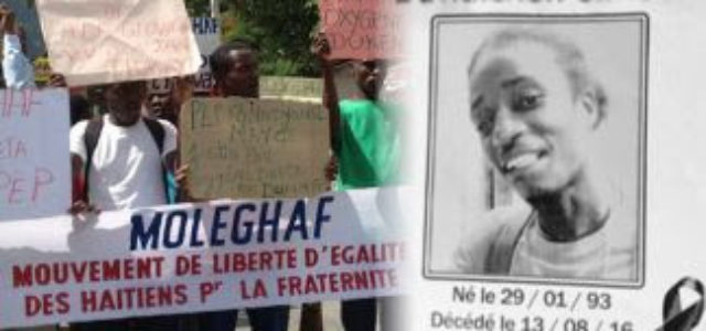 Haití – Repudio al asesinato de joven Simeón