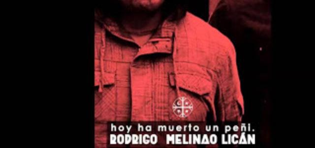 Chile: El gobierno de Piñera y sus policías son los responsables del asesinato del peñi Rodrigo Melinao Licán