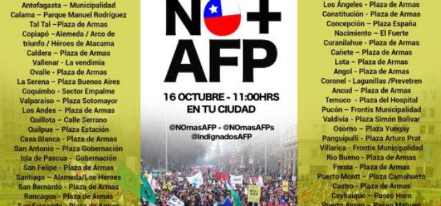 Todo Chile se va a las calles este domingo para exigir eliminación del sistema de pensiones