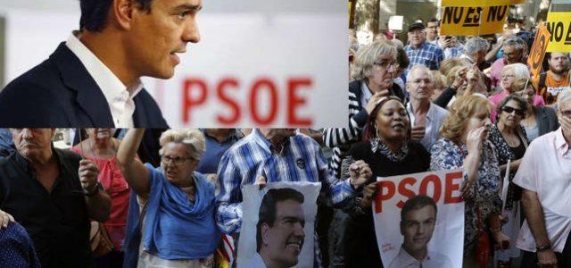 Una grave crisis estalla en la socialdemocracia española