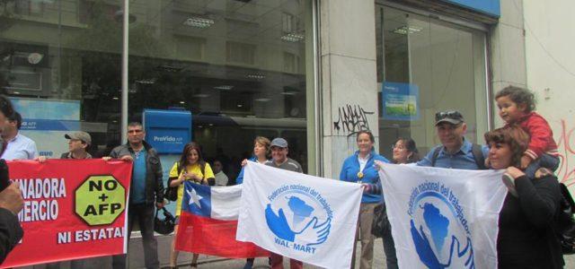 Fuerte represion contra Coordinadora NO + AFP.