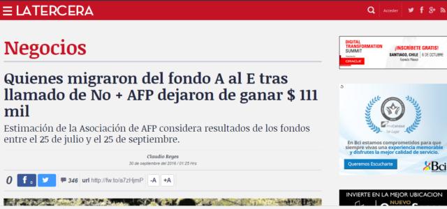 Chile:  La Tercera y la falacia de la pérdida por cambio al fondo E