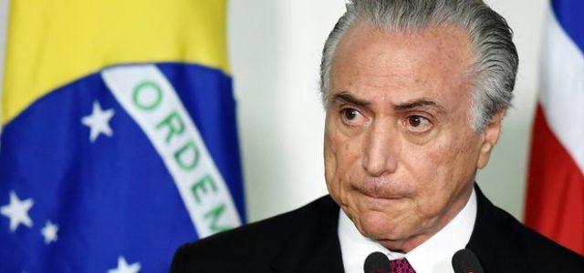 """Brasil –""""Temer tendrá dificultad para concluir su mandato, el escenario para los próximos años es sombrío"""""""