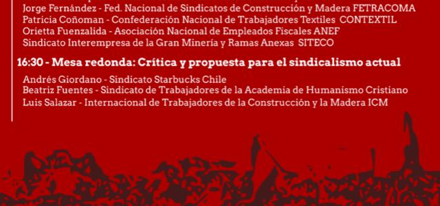 """Chile – Foro 30 de Noviembre: """"Estrategias y Desafíos Políticos del Sindicalismo Actual"""" – Fundación Sol"""
