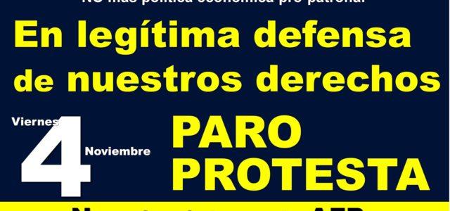 Chile – Luis Mesina Balance de la Protesta y Paro del 4 de Noviembre