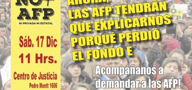 Chile – Demanda contra las AFP para que expliquen pérdidas en fondo E