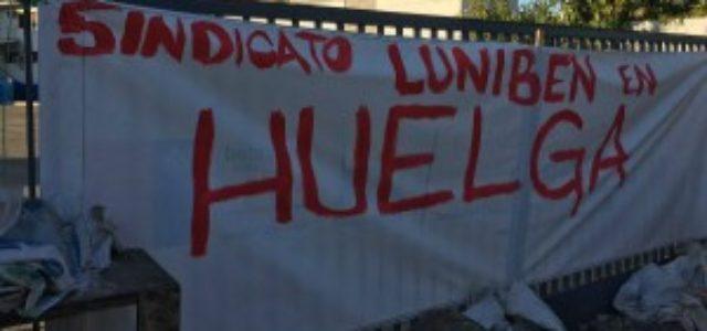 """Chile – Huelga Luniben: """"Seguiremos firmes porque queremos reivindicar nuestros derechos"""""""