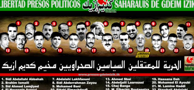 Marruecos / República Saharahui – JUICIOS ARBITRARIOS DE MARRUECOS EN CONTRA DE LOS PRESOS POLITICOS SAHARAUIS DE GDEM IZIK