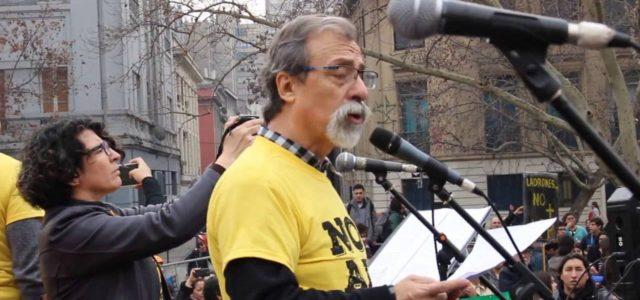 Chile – Discurso Central de la última Marcha NO+AFP en Santiago de Luis Mesina convocando al plebiscito.
