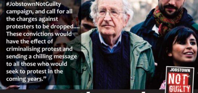 Haz como Noam Chomsky: ¡Oponete a la criminalización de la resistencia social en Irlanda!