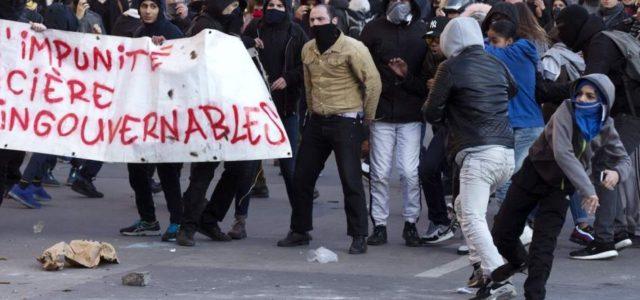 Francia – Disturbios en París en una protesta contra la violencia policial con varios heridos