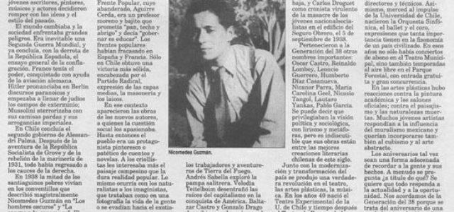 Chile – Generación Literaria de 1938