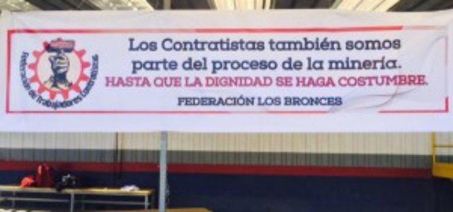 Chile – Federación Contrastista Los Bronces pidió mediación de la Dirección del Trabajo