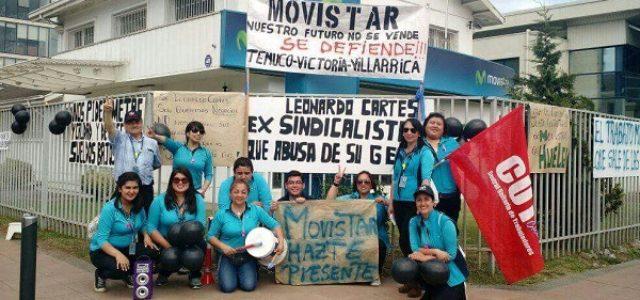 """Chile: Huelga subcontratistas Movistar – """"Empleador no quiere ceder en nada y pide comprensión"""""""