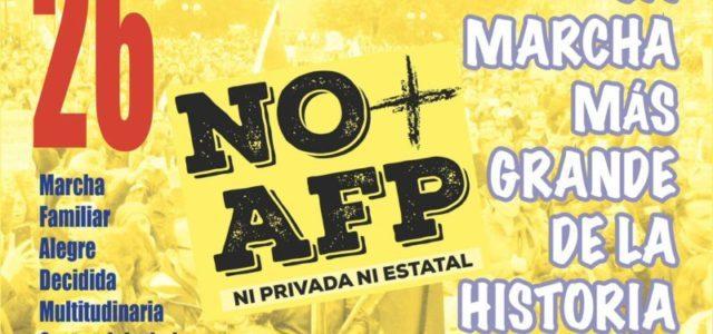 Chile – 26 de marzo, la gran marcha NO + AFP – Lugares de encuentro de Arica a Magallanes