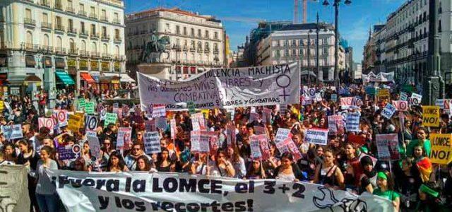 España – 9M: Un huelga estudiantil abrumadora vacía las aulas y llena las calles