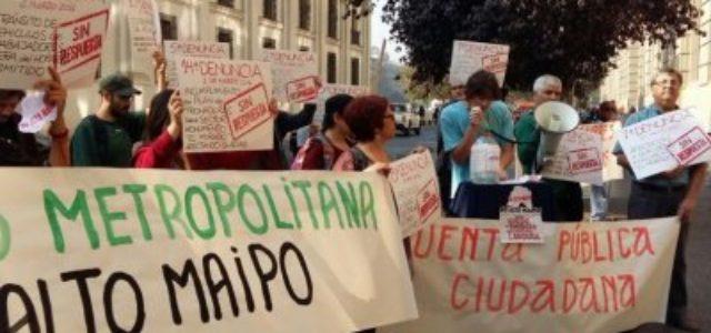 Chile / Estados Unidos – Alto Maipo: Comunidad organizada y autoridades insisten en impacto negativo del proyecto y acusan debilidad institucional