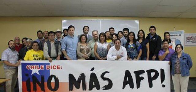Chile – Ayer 7 de marzo de 2017, se constituyeron coordinadoras NO + AFP en las ciudades de Talca y de Los Angeles.