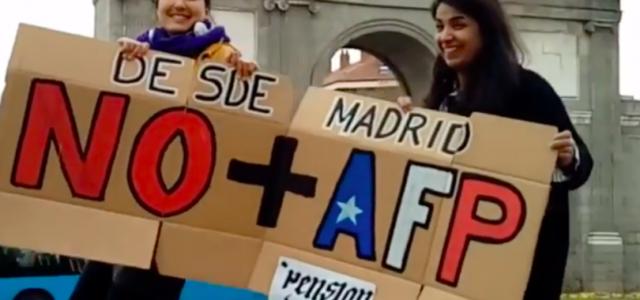 En distintos puntos del mundo también se realizaron manifestaciones contra las pensiones chilenas
