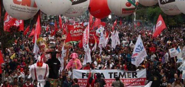 Desencanto con mentira golpista activa huelga general en Brasil: CUT