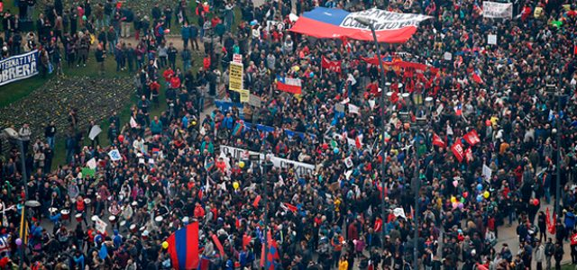 Chile – MARCHA NO MAS AFP 22 ABRIL 2018, CONVOCATORIA DE LUIS MESINA