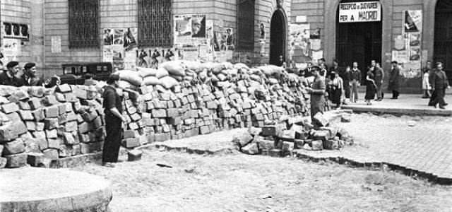 Mayo de 1937, barricadas en Barcelona