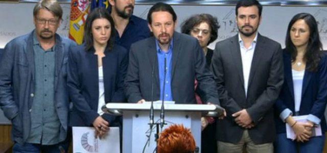 España: Unidos Podemos presenta una moción de censura. ¡Abajo el gobierno corrupto del PP! ¡Hacer triunfar la moción organizando una huelga general!