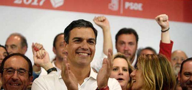Estado Español –  A la burguesía le sale el tiro por la culata: Pedro Sánchez arrolla a Susana Díaz… y Podemos llena la Puerta del Sol