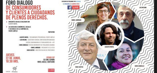 Chile – Doris Gonzalez, Luis Mesina, Alberto Mayol en Foro «De consumidores a ciudadanos plenos»