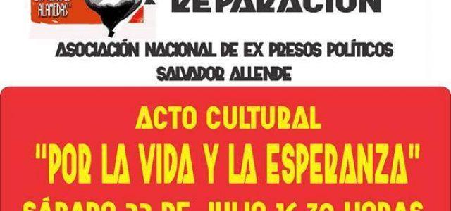"""Chile – En Santiago INDH en toma ACTO CULTURAL """"POR LA VIDA Y LA ESPERANZA"""""""