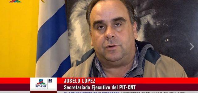 """Uruguay – Joselo López: """"Fue un paro muy importante a nivel nacional"""""""