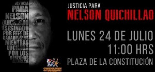 Chile – Organizaciones sindicales convocan a acto en memoria de Nelson Quichillao