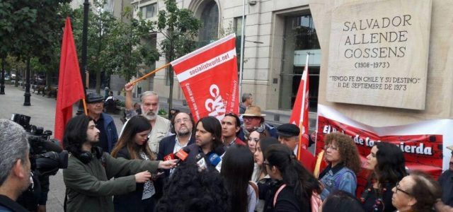Tony Saunois del Comité por una Internacional de Los Trabajadores CIT saludo homenaje a Salvador Allende