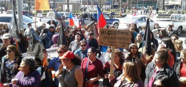 Chile: Talcahuano – En Centinela 2 protestan contra el negocio de viviendas malas