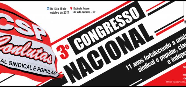 Brasil –El 3º Congreso de la CSP-Conlutas reafirma independencia de clase y su carácter obrero, sindical y popular