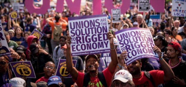 Miles de activistas reivindican los $15/hora y un sindicato en las protestas del Día del Trabajo en Estados Unidos