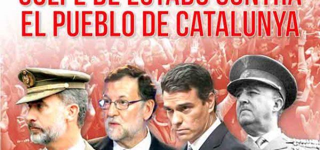 ¡Golpe de Estado contra el pueblo de Catalunya!