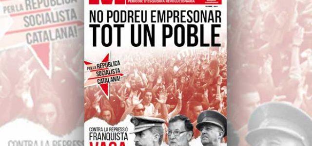 Estado Español – ¡Derrotar el 155 y la represión franquista en Catalunya con la huelga general!
