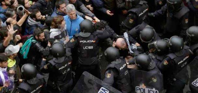 ¡Violencia policial salvaje y resistencia ejemplar del pueblo de Catalunya!