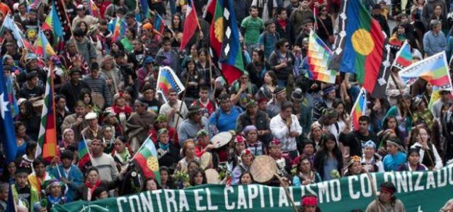 Wallmapu / Chile. Violenta represión sufre marcha por la Resistencia Indígena en Santiago