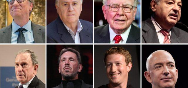 Los ocho hombres que poseen la mitad de toda la riqueza mundial