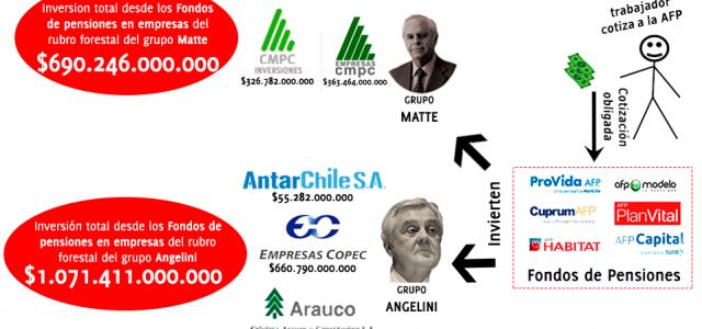 Chile – El lucrativo negocio forestal financiado con los ahorros previsionales
