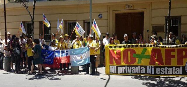 Chile – Coordinadora No+AFP solidariza con protestas en Argentina