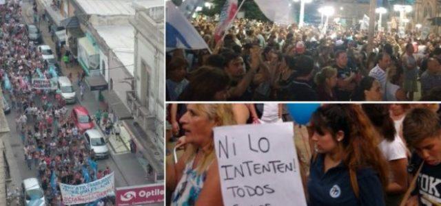 Argentina – La ciudad de Azul se levantó contra la decisión de Macri de cerrar Fanazul.