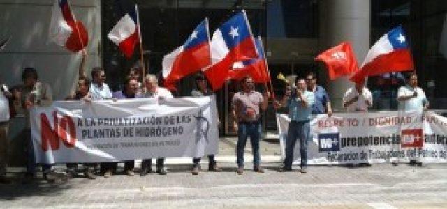 Chile – Trabajadores del petróleo protestan contra privatización de plantas de Hidrógeno de ENAP