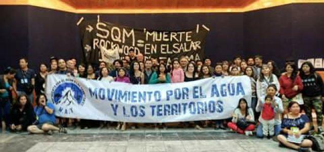 """Chile –""""El agua para los pueblos; no más territorios en sacrificio"""""""