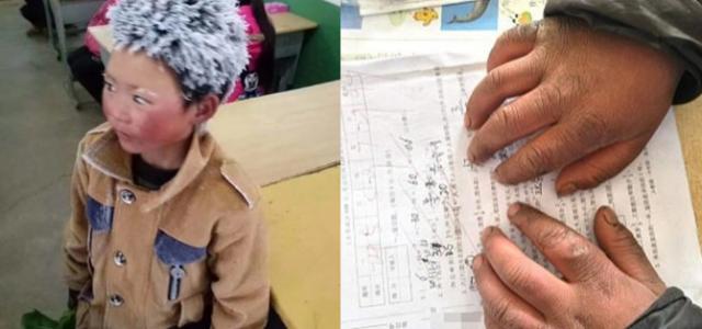 La imagen de un niño congelado pone en el punto de mira la pobreza rural de China