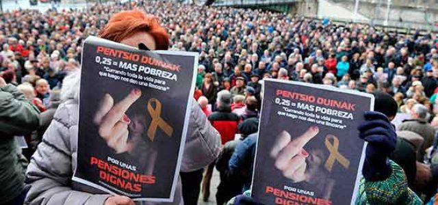 """Estado Español – ¡Abajo el Gobierno del PP! ¡No a las subidas """"de mierda"""" de las pensiones!"""