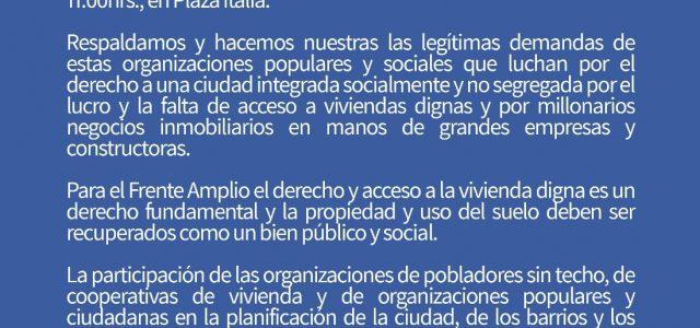 Chile – IV Marcha Nacional por el Derecho a la Ciudad y la Vivienda,  sábado 24 de marzo