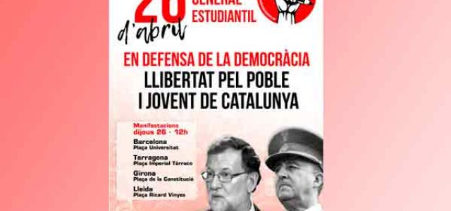 26 de abril huelga general estudiantil en Catalunya